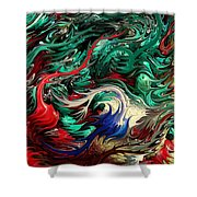 Micro Life By Rafi Talby Shower Curtain