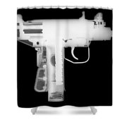 Micro Uzi Reverse Shower Curtain