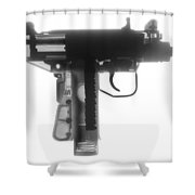 Micro Uzi X Ray Photograph Shower Curtain