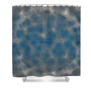 Microscopic Scale - Blue Shower Curtain