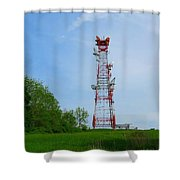 Microwave Tower Shower Curtain