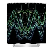 Microwaves Shower Curtain