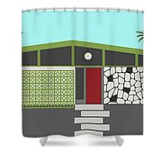 Mid Century Modern House 4 Shower Curtain