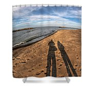Mid Dec Day At The Beach...who Can Argue At Presque Isle State Park Series Shower Curtain
