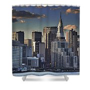 Mid Manhattan In Hdr Shower Curtain