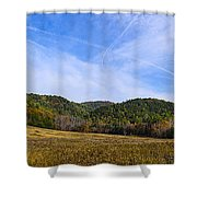 Mid-morning Panorama At Cades Cove Shower Curtain