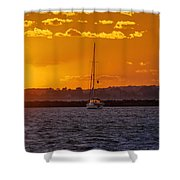 Mid Week Sunset Shower Curtain