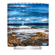 Midday Sail Shower Curtain