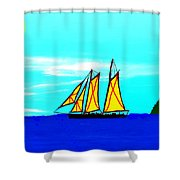 Midday Sailing Shower Curtain