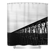 Midday Tracks Shower Curtain