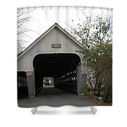 Middle Bridge Back Woodstock Vermont Shower Curtain