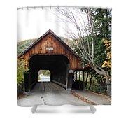 Middle Bridge Front Woodstock Vermont Shower Curtain