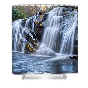 Middle Falls At Snowbird Creek Shower Curtain