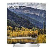 Middle Fork Brillance  Shower Curtain