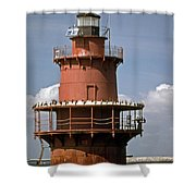Middle Ground Lighthouse Shower Curtain