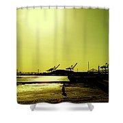 Middle Harbor Shoreline Park Shower Curtain