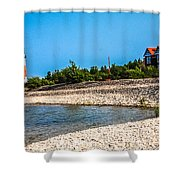 Middle Island Lighthouse Shower Curtain
