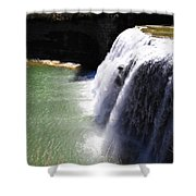 Middle Waterfalls In Letchworth State Park II Shower Curtain