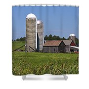 Middlebury Vermont Barn Shower Curtain