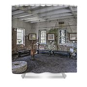 Middleton Place Rice Mill Interior Shower Curtain