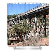 Midgley Bridge And Oak Creek Canyon  Shower Curtain