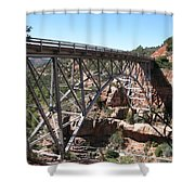 Midgley Bridge Over Oak Creek Canyon Shower Curtain