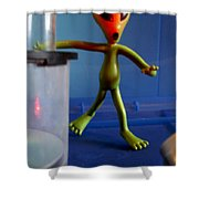 Midnight Alien Skinnydipping Party Shower Curtain