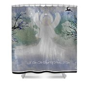 Midnight Angel Of Peace Shower Curtain
