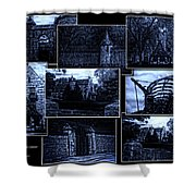 Midnight At The Prison Collage Shower Curtain