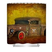 Midnight Auto Parts Shower Curtain