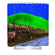 Midnight Express Shower Curtain