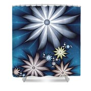 Midnight In Spring Shower Curtain
