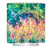 Midnight In The Garden Shower Curtain