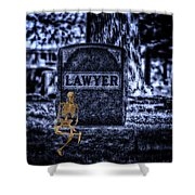 Midnight In The Graveyard With A Lawyer Shower Curtain