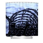 Midnight In The Prison Yard Shower Curtain