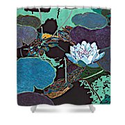 Midnight Moonglow Shower Curtain