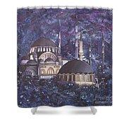 Midnight Mosque Shower Curtain