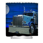 Midnight Peterbilt Shower Curtain