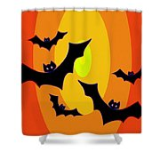 Midnight Sunset Shower Curtain