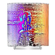 Come Out And Swim The Midnight Swim With Us  Shower Curtain by Hilde Widerberg