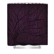 Midnight Tree Shower Curtain