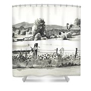 Midsummer View Out Route Jj   No I101 Shower Curtain