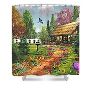 Midsummer's Joy Shower Curtain