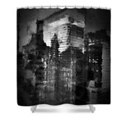 Midtown Black And White Shower Curtain