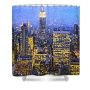 Midtown Manhattan And Empire State Building Shower Curtain
