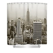 Midtown Manhattan With Empire State Building Shower Curtain