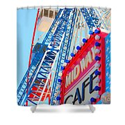 Midway Cafe Shower Curtain