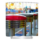 Midway Line Up Shower Curtain