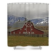 Midway Ranch Barn Shower Curtain