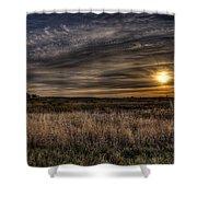 Midwest Sunrise Shower Curtain